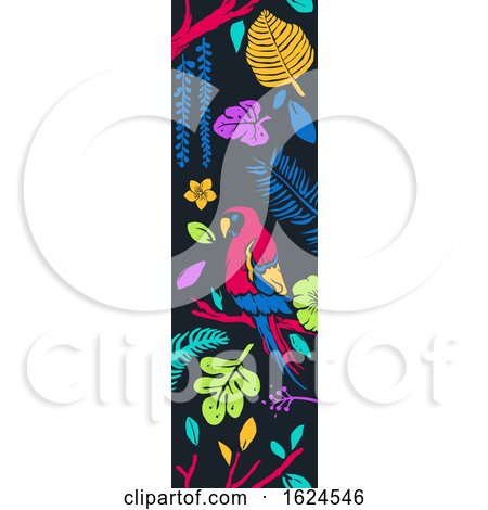 Tropical Vertical Banner Border by BNP Design Studio