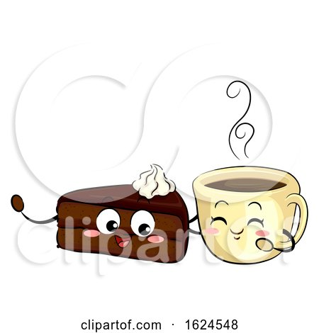 Mascot Sachetorte Cake and Coffee Illustration by BNP Design Studio