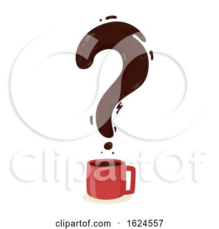 Coffee Question Mark Illustration by BNP Design Studio