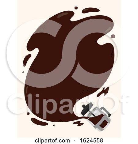 Coffee Press Spill Frame Illustration by BNP Design Studio