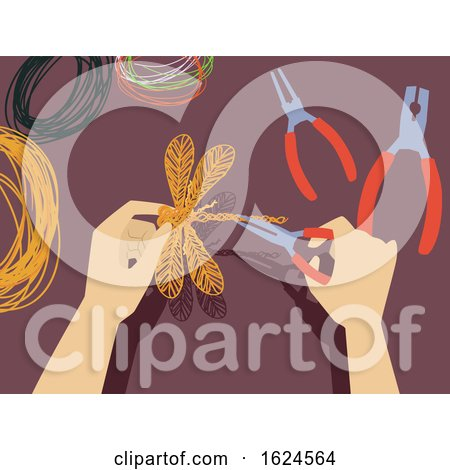 Hands Wire Craft Illustration by BNP Design Studio