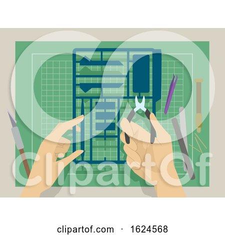 Hands Plastic Model Illustration by BNP Design Studio