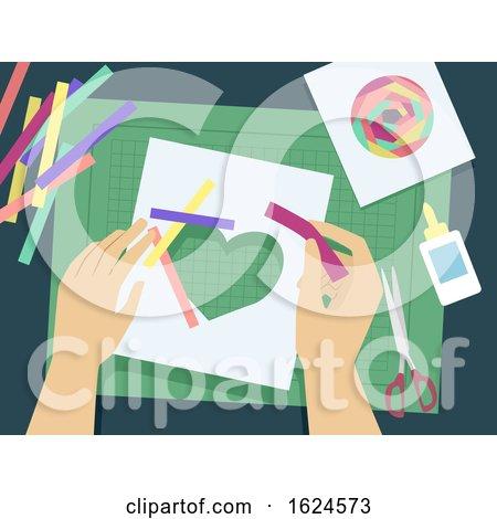 Hands Iris Folding Illustration by BNP Design Studio