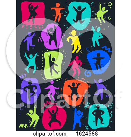 Colored People Dancing Illustration by BNP Design Studio