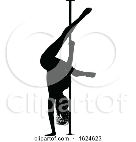 Pole Dancer Woman Silhouette by AtStockIllustration