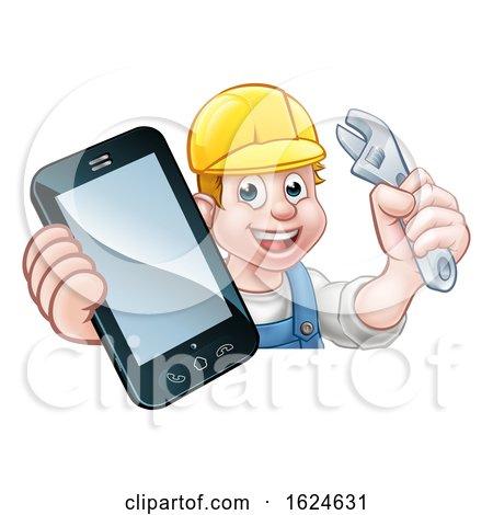 Mechanic Plumber Handyman Phone Concept by AtStockIllustration