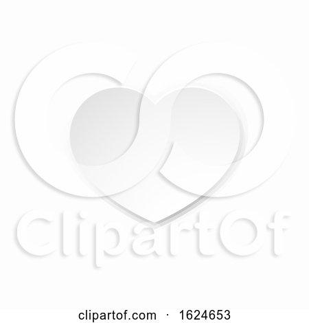 Valentines White Paper Heart by AtStockIllustration
