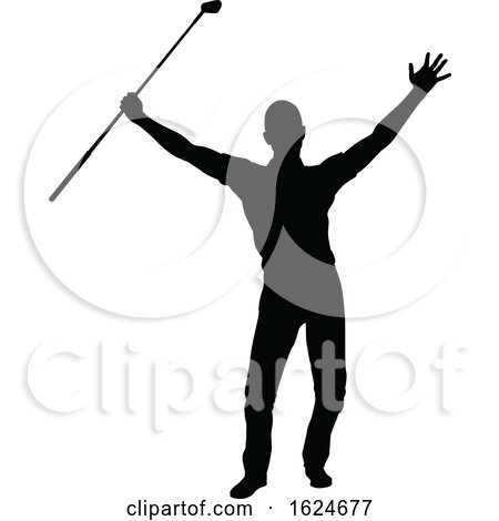 Golfer Golf Sports Person Silhouette by AtStockIllustration