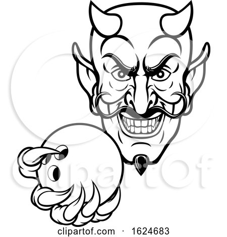 Devil Bowling Sports Mascot by AtStockIllustration