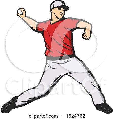 Baseball Player Throwing by Vector Tradition SM