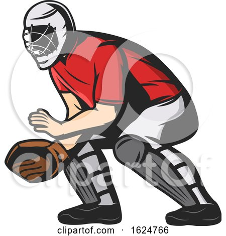 Baseball Player Catcher by Vector Tradition SM