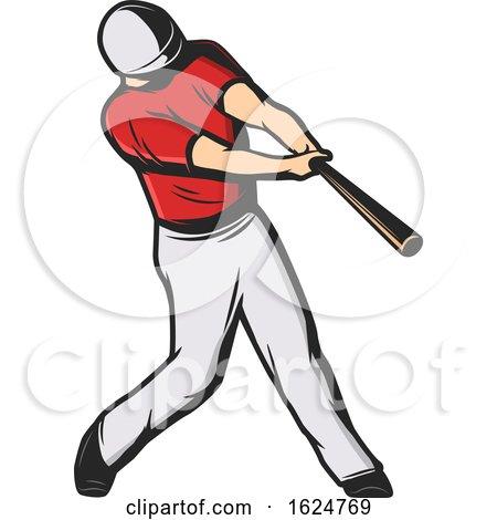 Baseball Player Batting by Vector Tradition SM