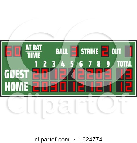 Baseball Score Board by Vector Tradition SM