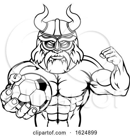 Viking Soccer Football Sports Mascot by AtStockIllustration