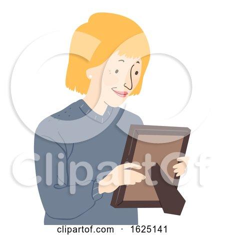Senior Woman Picture Frame Illustration by BNP Design Studio