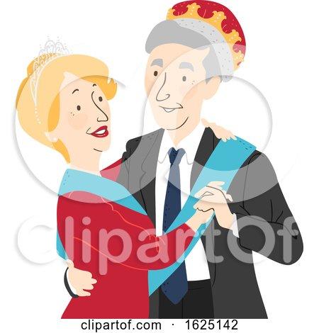 Senior Citizen Prom King Queen Illustration by BNP Design Studio