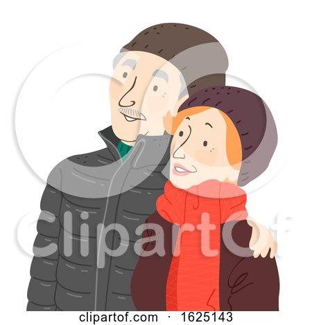 Senior Couple Winter Illustration by BNP Design Studio