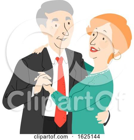 Senior Citizen Couple Dance Illustration by BNP Design Studio