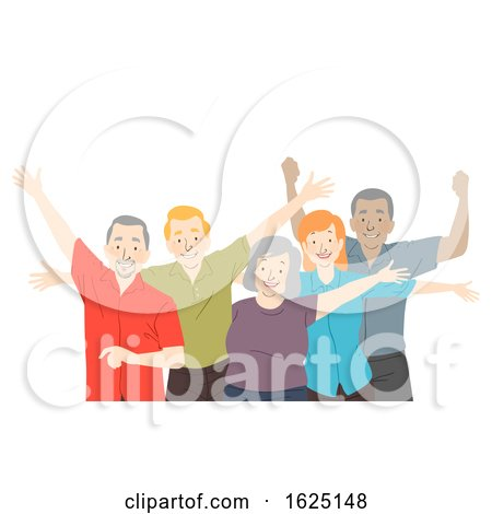 Seniors Citizen Happy Illustration by BNP Design Studio