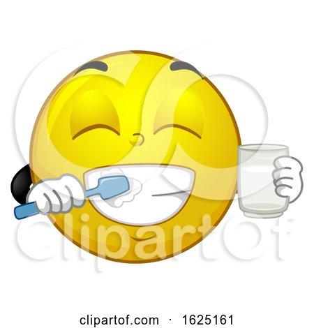 Smiley Mascot Brush Teeth Illustration by BNP Design Studio