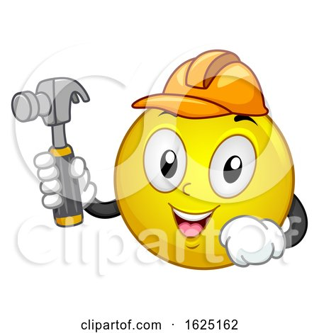 Smiley Mascot Carpenter Illustration by BNP Design Studio