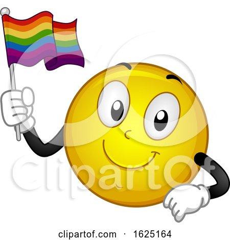 Smiley Mascot Flag Illustration by BNP Design Studio