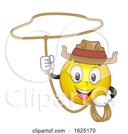 Smiley Cowboy Rope Illustration Posters, Art Prints