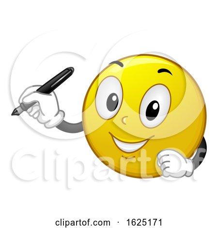 Smiley Fountain Pen Illustration by BNP Design Studio