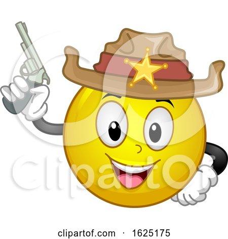 Smiley Sheriff Gun Illustration by BNP Design Studio