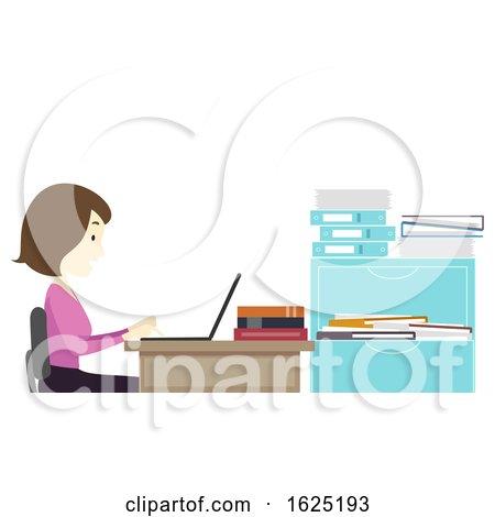 Girl Teacher Browse Laptop Faculty Room by BNP Design Studio