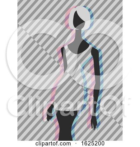 Girl Fashion Mannequin Op Art Illustration by BNP Design Studio