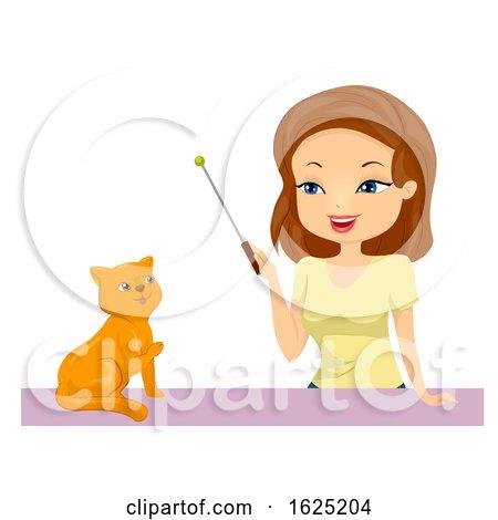 Girl Train Cat Illustration by BNP Design Studio