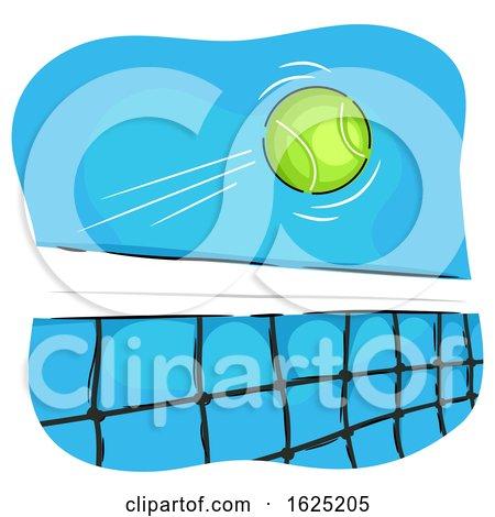 Tennis Ball Net Illustration by BNP Design Studio