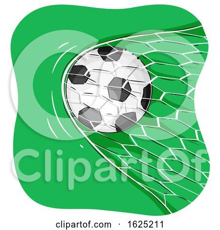 Soccer Ball Goal Illustration by BNP Design Studio