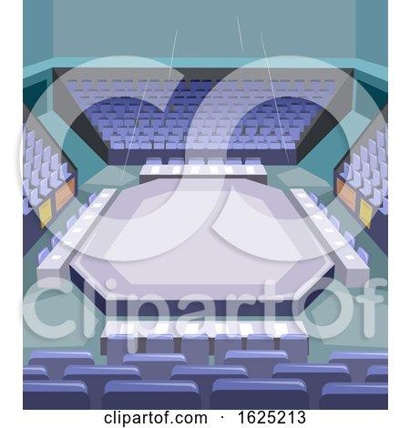 Karate Stage Illustration by BNP Design Studio