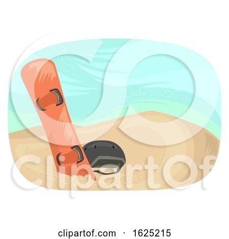 Desert Adventure Sand Boarding Illustration by BNP Design Studio