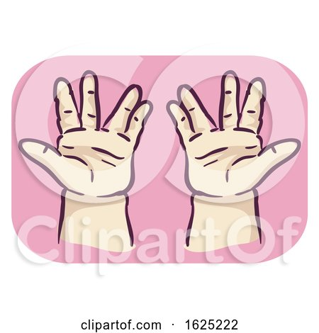 Hands Symptom Trident Hand Short Finger by BNP Design Studio