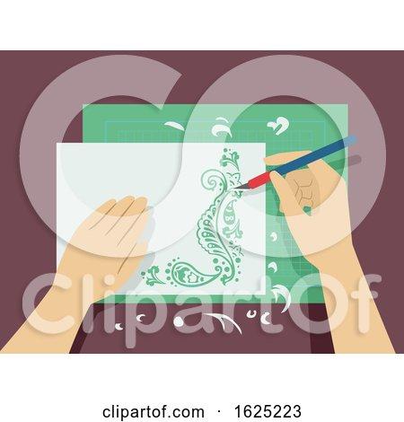Hands Paper Cutting Illustration by BNP Design Studio