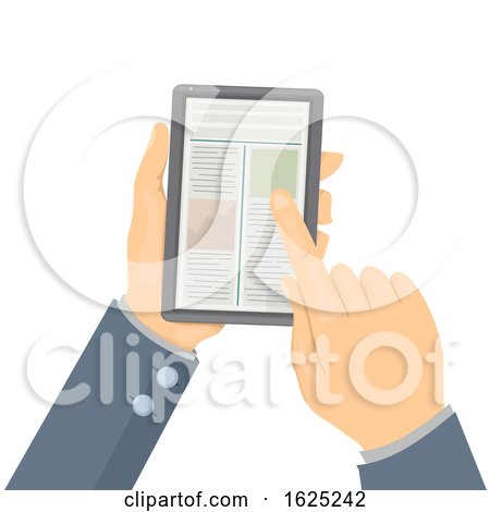 Hands Phone Articles Illustration by BNP Design Studio