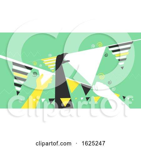 Hands Bunting Design Illustration by BNP Design Studio