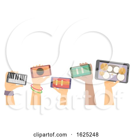 Hands Digital Instruments Jamming Illustration by BNP Design Studio