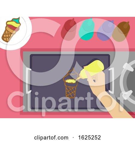 Hand Pancake Art Illustration by BNP Design Studio