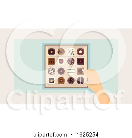 Hand Chocolates Illustration by BNP Design Studio