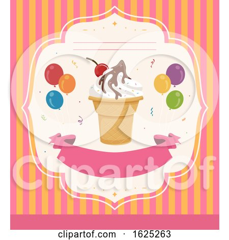 Invitation Ice Cream Party Illustration by BNP Design Studio