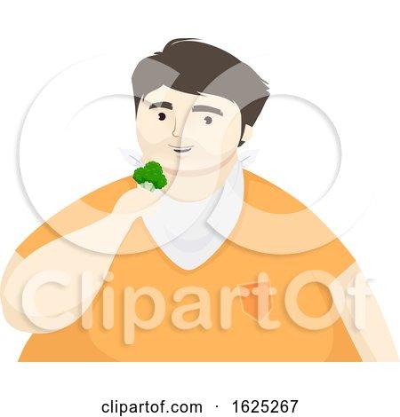 Man Eat Broccoli Illustration by BNP Design Studio