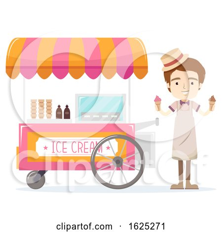 Man Ice Cream Vendor Illustration by BNP Design Studio