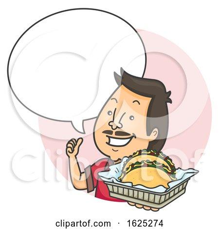 Man Taco Speech Bubble Illustration by BNP Design Studio