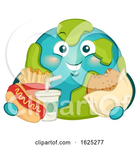 Mascot Big Earth Fast Foods Illustration by BNP Design Studio