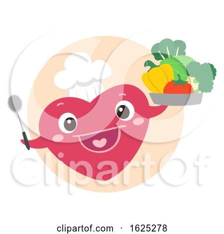 Mascot Heart Chef Vegan Outreach Program by BNP Design Studio