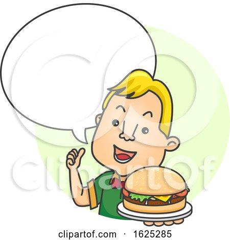 Man Burger Speech Bubble Illustration by BNP Design Studio